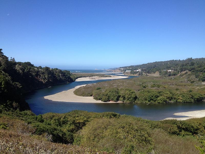 Gualala River mouth.