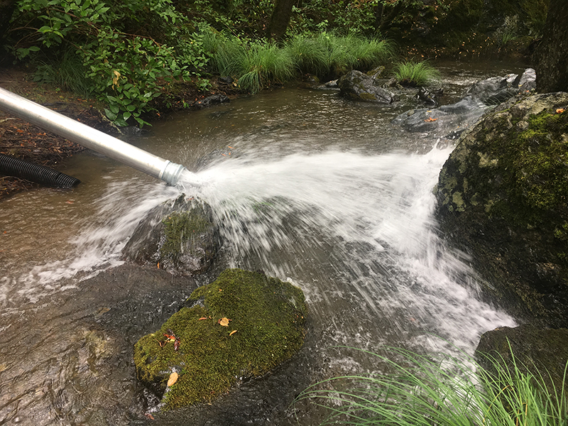 Porter CreekStreamflow Enhancement Project Begins Releasing Water